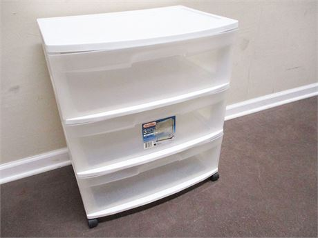 STERILITE 3-DRAWER ROLLING STORAGE