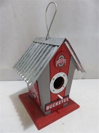 OHIO STATE BUCKEYES Tin Roof Birdhouse