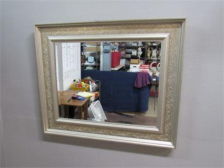 Framed Beveled Glass Mirror