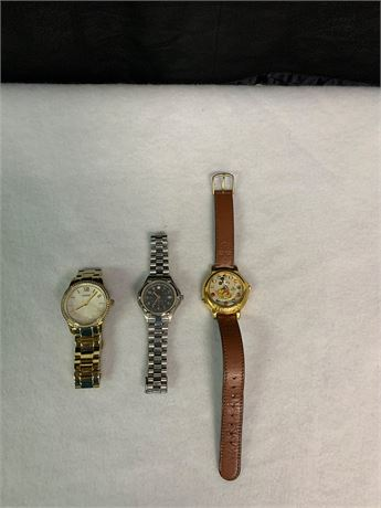 Lot of 3 Watches, Featuring Vintage Lorus Mickey Mouse