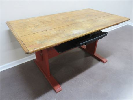 Rustic Wood Computer Desk