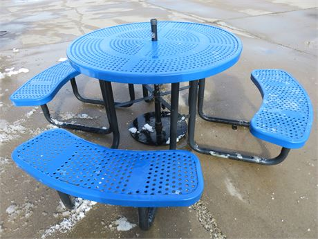 Commercial Grade Steel Picnic Table