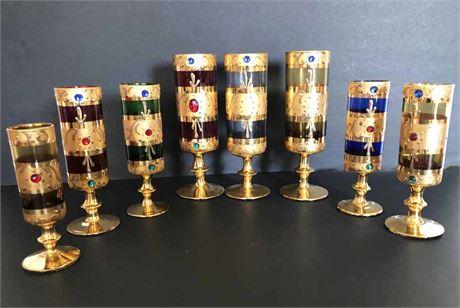 Gold & Jewel Glassware