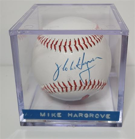 1990s Cleveland Indians Manager Mike Hargrove Hand Signed Baseball