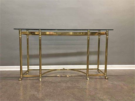 Beveled Glass Italian Console Table