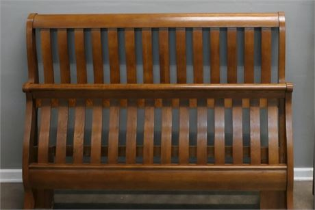 Mission Style Sleigh Bed with rails