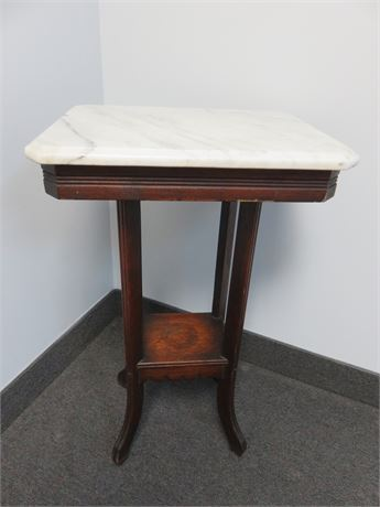Vintage Marble Top Accent Table