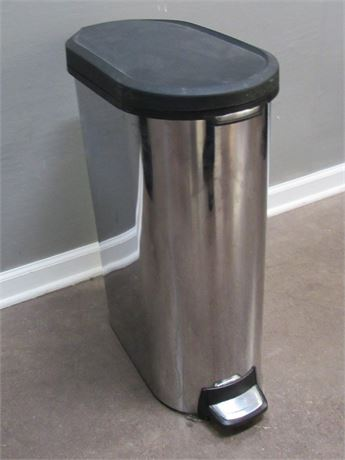 Simplehuman Brushed Stainless Foot-Operated Garbage Can