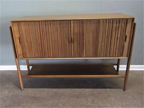Drexel Mid Century Modern Tambour Door Credenza/Buffet/Sideboard - Barney Flagg