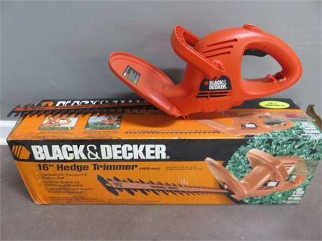 BLACK & DECKER 16-inch Electric Hedge Trimmer