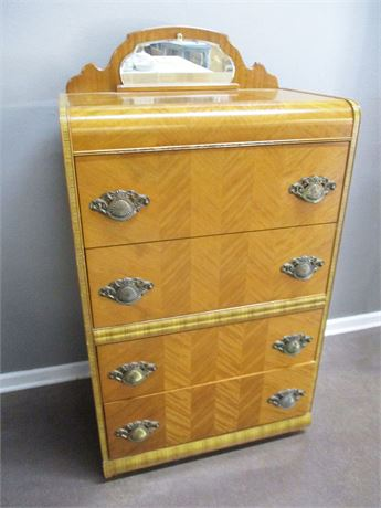 VINTAGE 4-DRAWER WATERFALL CHEST