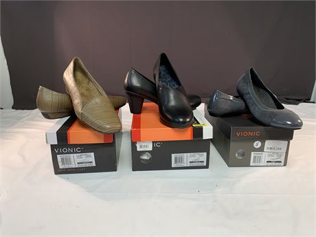 3 Pairs of New Vionic Shoes