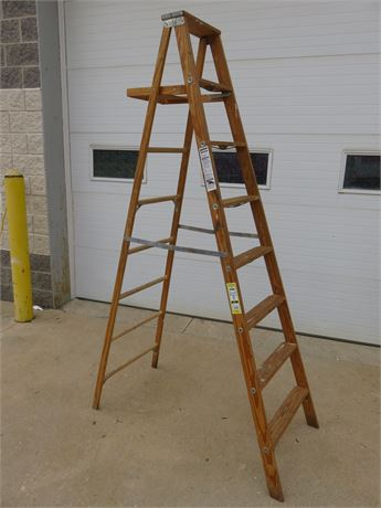 WERNER 8 ft. Wooden Step Ladder