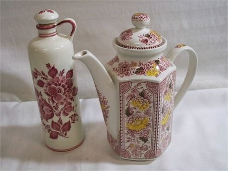 2 PIECE CHINA LOT - RIDGWAY CANTERBURY AND BOLS DELFT RED