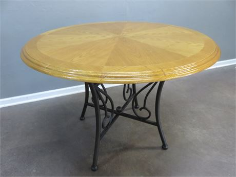 Oak Round Top Table