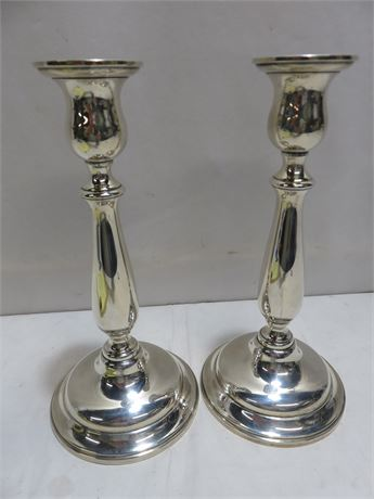 LORD SAYBROOK Weighted Sterling Silver Candlesticks