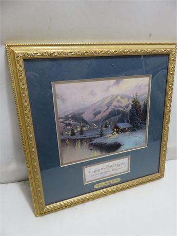 THOMAS KINKADE 2002 Salt Lake Winter Olympics Print