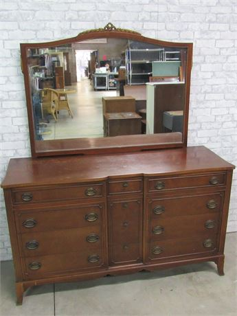 Vintage 12 Drawer Dresser with Mirror