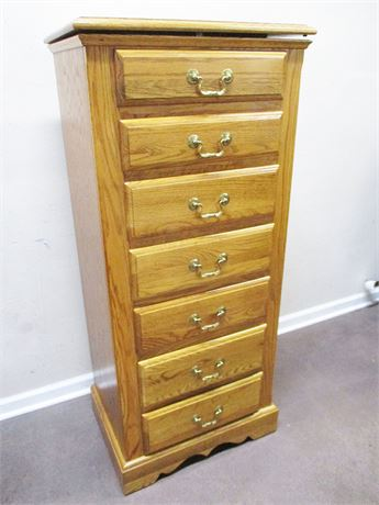 "EXCELLENT NATHAN HALE ""HARVEST OAK"" 6-DRAWER LINGERIE CHEST"