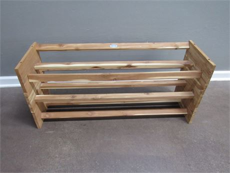 3 Stackable Hold Everything Cedar Shoe Racks