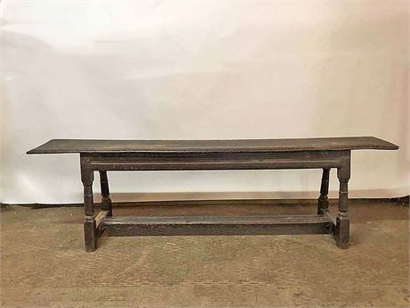 Vintage African  Etched Wood Bench