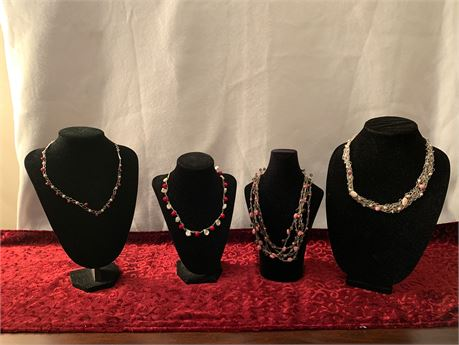 Lot of 4 Artisan Necklaces
