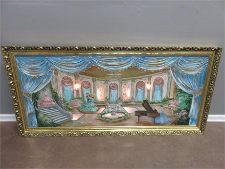 ERNESTINE TALIAFERRO Mid Century Lighted Artwork