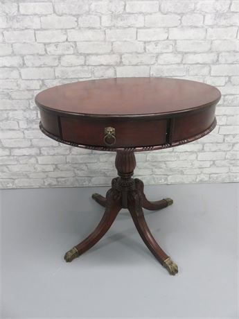 Vintage Mahogany Drum Table