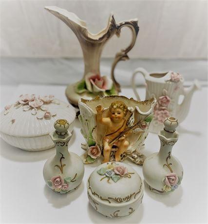 Capodimonte ceramic pieces.