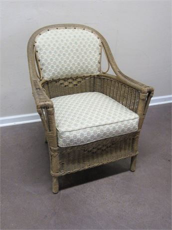 VINTAGE FICK'S REED CO. WICKER CHAIR