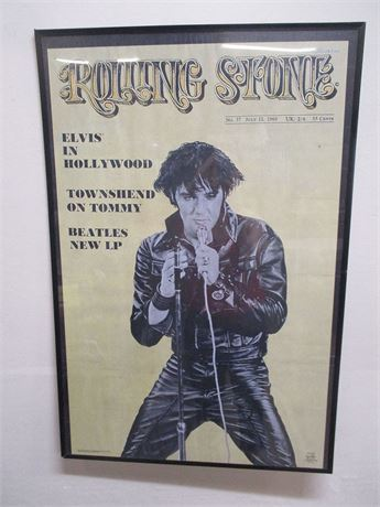 ELVIS ROLLING STONE COVER POSTER