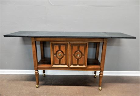 Vintage Extending Buffet Server with Casters