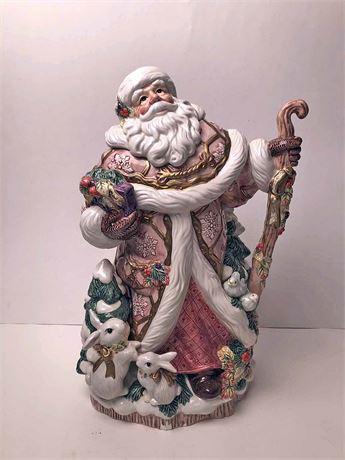 Fitz & Floyd Santa Centerpiece Vase