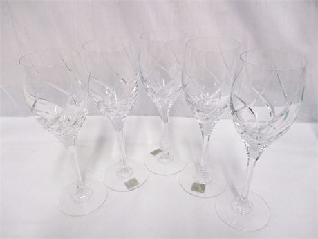 LOT OF 5 MIKASA WINE GLASSES