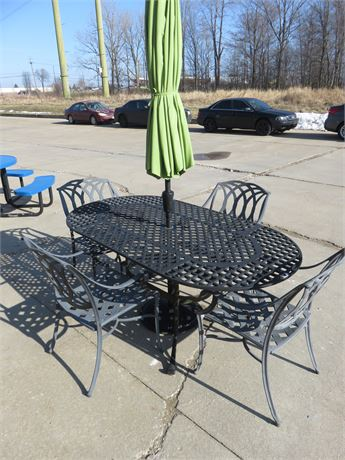 Cast Aluminum Patio Dining Set