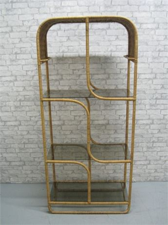 3-TIER WICKER DISPLAY SHELF/STAND
