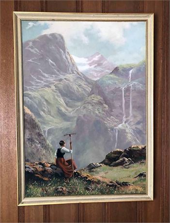 Vintage Framed Painting