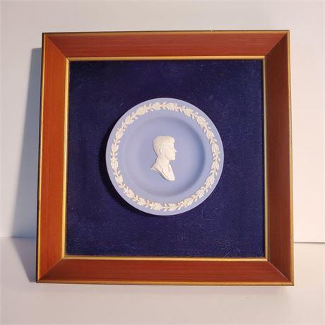 Framed Wedgwood JFK Plate