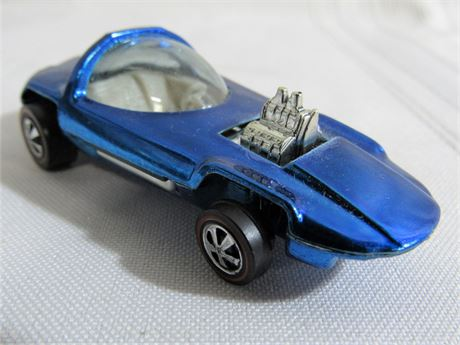 1967 Mattel Hot Wheels RedLine - Silhouette - Blue