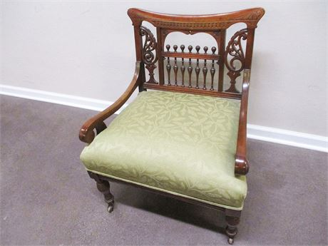 EXCELLENT VINTAGE CARVED CHAIR