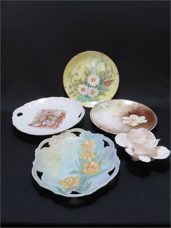 Decorative Porcelain Plate Lot