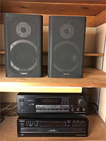 Onkyo Stereo Receiver & Compact Disc Changer w/ Speakers