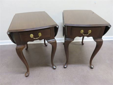 HARDEN Queen Anne Drop Leaf Side Tables