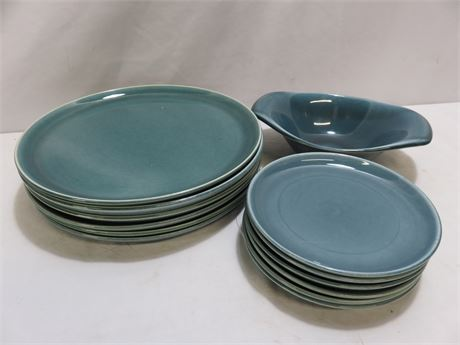 Mid-Century RUSSEL WRIGHT 13-Piece Stoneware Pottery Lot
