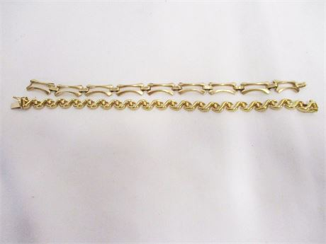 LOT OF TWO 14K GOLD BRACELETS