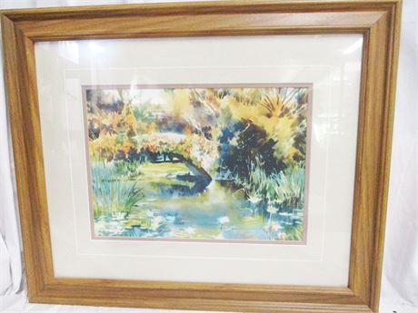 """""""LILY POND"""" BY RALEIGH KINNEY #25/200 - SIGNED"""