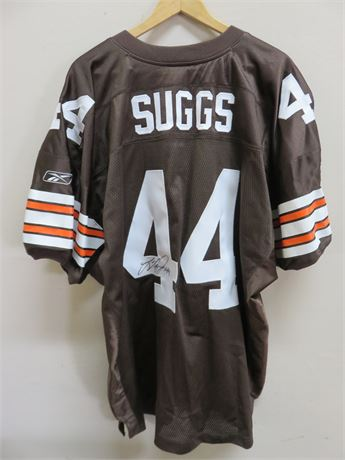 Authentic Cleveland Browns LEE SUGGS #44 Signed Jersey
