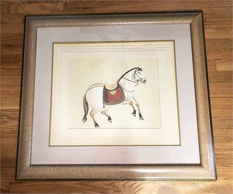 Framed Stallion Art Print