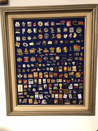 Advertising Button Collection Display
