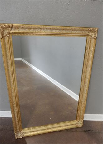 Wall Mirror with Gold Tone Frame